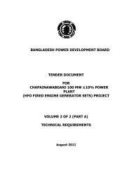 (Part A) for construction of Chapainawabganj 100 MW + - BPDB