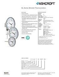 Ashcroft Bimetal Thermometers EL Series - Temp-Press Inc