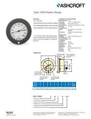Duplex Gauges Type 1038, 1339 ASME B 40.1 ... - Temp-Press Inc