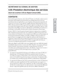 Prestation électronique des services - Auditor General of Ontario