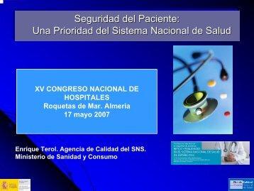 Seguridad del Paciente: Una Prioridad del Sistema Nacional de ...