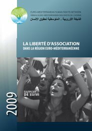 LA LIBERTÉ D'ASSOCIATION - Euromedrights