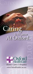 Caring - Oxford HealthCare