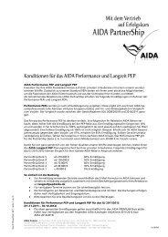Anmeldung zu einer AIDA Schiffsbesichtigung - AIDA Cruises
