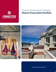 Forrester Construction Company Historic Preservation Portfolio