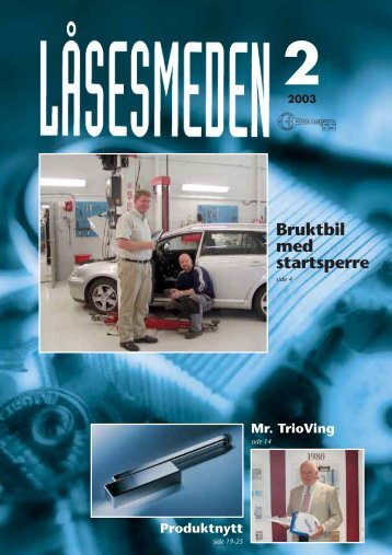 2 2003 Bruktbil med startsperre - Foreningen Norske LÃ¥sesmeder