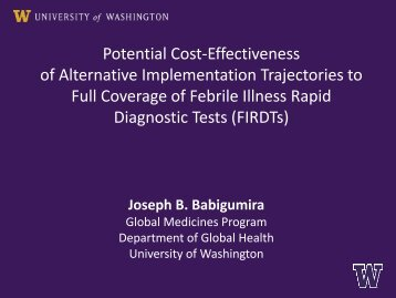 Potential Cost-Effectiveness of Alternative Implementation ...