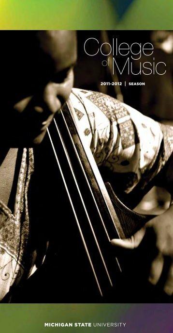 2011-12 Season Brochure - MSU College of Music - Michigan State ...