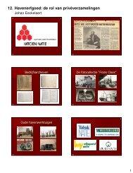 12. Havenerfgoed: de rol van privéverzamelingen