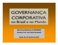 A Governança Corporativa no Brasil - Creativante