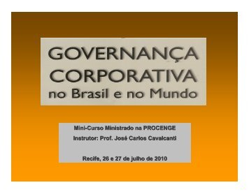 A Governança Corporativa no Brasil - Creativante