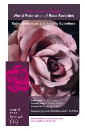 World Federation of Rose Society Classes - Sea to Sky Meeting ...