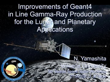 Current Status of Geant4 Simulation II - X-ray Astronomy Group at ...