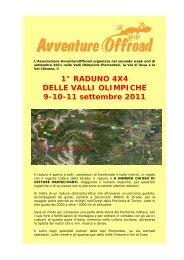1° RADUNO 4X4 DELLE VALLI OLIMPICHE 9-10 ... - Off Road Web