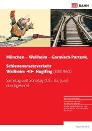 München – Weilheim – Garmisch-Partenk ... - ÖBB