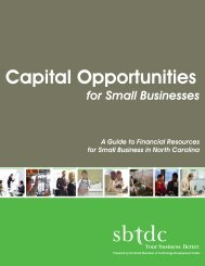 Capital Opportunities for Small Businesses - sbtdc