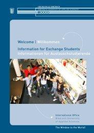 Welcome | Willkommen Information for ... - Hochschule Biberach