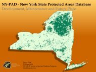 NY-PAD - New York State Protected Areas Database Development ...