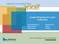 Why Loyalty? - VeriFone Premier
