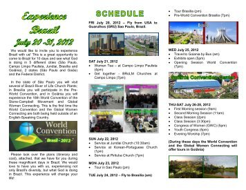 We would like to invite you to experience Brazil ... - World Convention