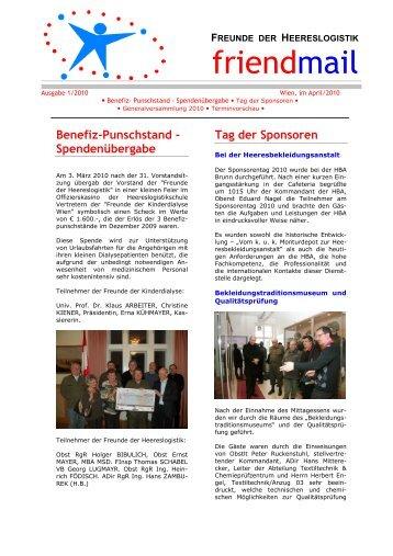 Ausgabe 01/2010 - Freunde der Heereslogistik