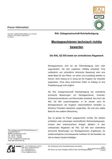 MONTAGESCHIENEN (66,4 kB) - Waschzettel.de