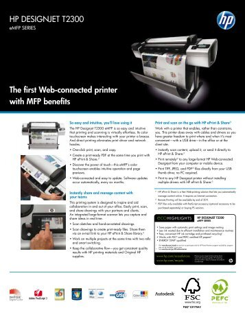 HP DESIGNJET T2300 The first Web-connected ... - Laser Valley