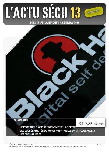 Spécial Blackhat Amsterdam (Avril 2007) - XMCO