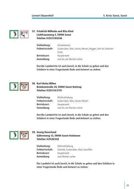 Angebote für Schulen im Kreis Soest - Lernort Bauernhof