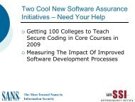 Two Cool New Software Assurance Initiatives ... - Build Security In