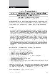 coleções biológicas do centro de pesquisas aggeu magalhães da ...