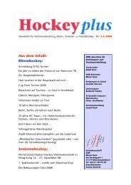 Download HockeyPlus Nr. 3 (PDF) - Deutscher Hockey Bund e.V.