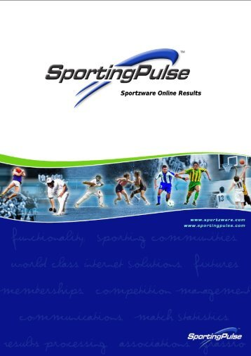 Sportzware Online Results - PulseTec Solutions Support
