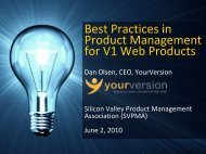 Best Practices in Product Managemebt for V1 Web Products - svpma