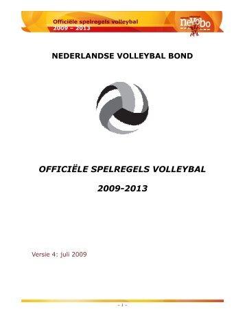 OFFICIËLE SPELREGELS VOLLEYBAL 2009-2013 - Visade Voorburg
