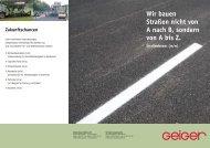 Wir bauen Straßen nicht von A nach B, sondern von A bis Z.