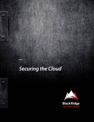 Securing the Cloud (PDF) - BlackRidge Technology