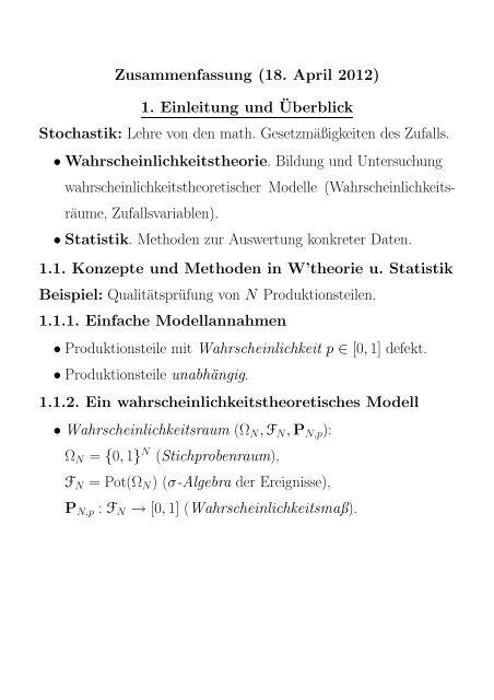 Zusammenfassung 18 April 2012 1 Einleitung Unduberblick