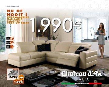 Chateau D'Ax folder 1 t/m 30 november 2014