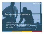 Moog's Experience in the Wind Market - Buffalo Niagara Enterprise