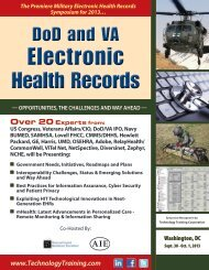 The Premiere Military Electronic Health Records Symposium For