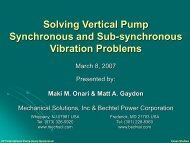 Solving Vertical Pump Synchronous and Sub ... - TurboLab
