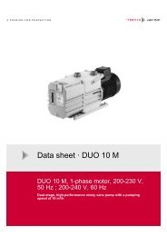 Data sheet · DUO 10 M
