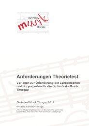 Anforderungen Theorietest - Musikschulen Thurgau