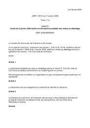 Le 6 février 2009 JORF n°0014 du 17 janvier 2009 ... - CCI Rennes