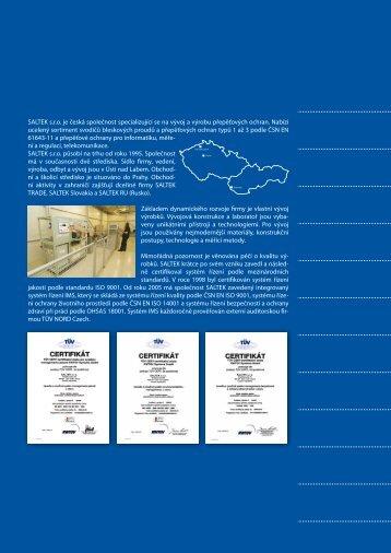SALTEK sro je česká společnost specializující se na vývoj a výrobu ...