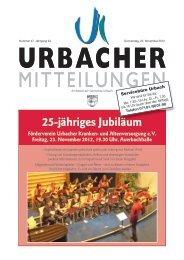 25-jähriges Jubiläum - Gemeinde Urbach