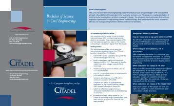 Bachelor of Science in Civil Engineering - The Citadel