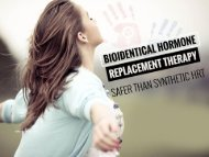 Bio-identical Hormone Replacement Therapy - Safer than Synthetic HRT