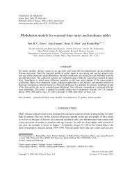 Modulation models for seasonal time series and incidence tables